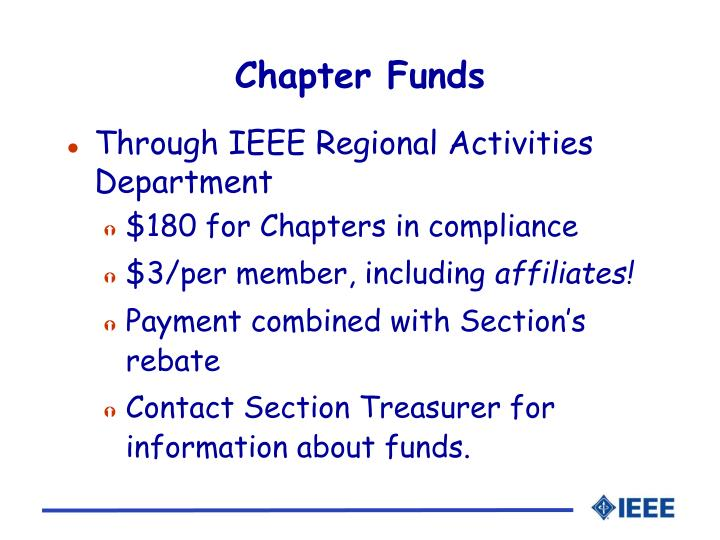 Chapter Funds