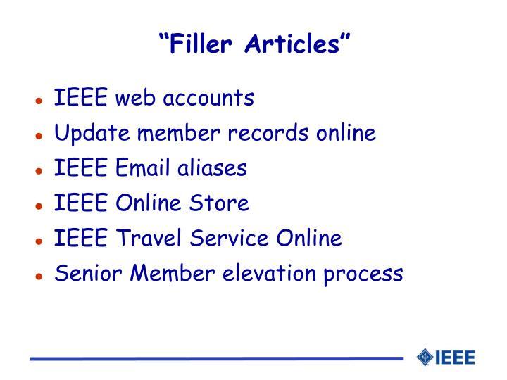 """""""Filler Articles"""""""