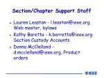 section chapter support staff1