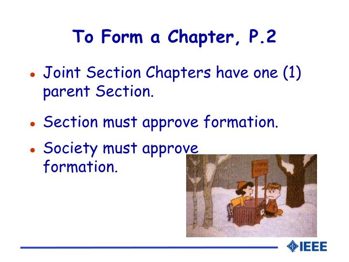 To Form a Chapter, P.2