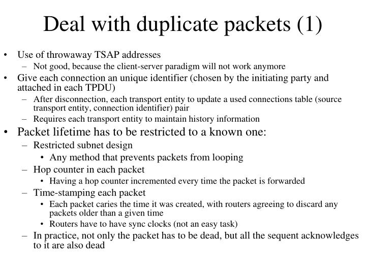 Deal with duplicate packets (1)