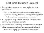 real time transport protocol2