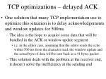 tcp optimizations delayed ack