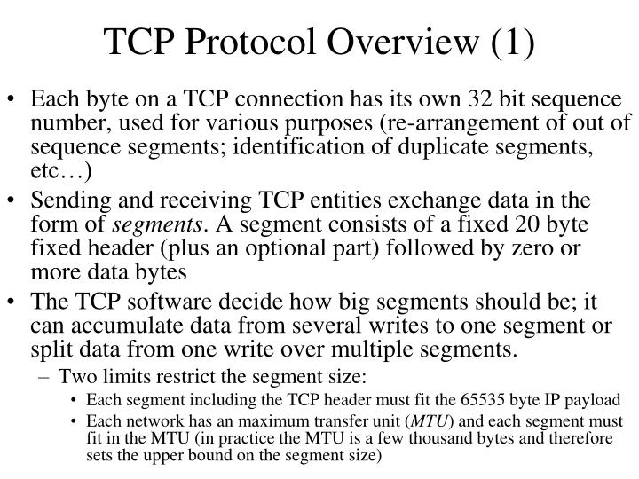 TCP Protocol Overview (1)
