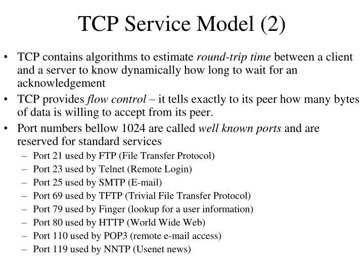 TCP Service Model (2)