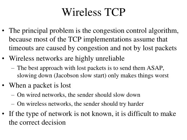 Wireless TCP