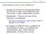 appealable orders and judgments1