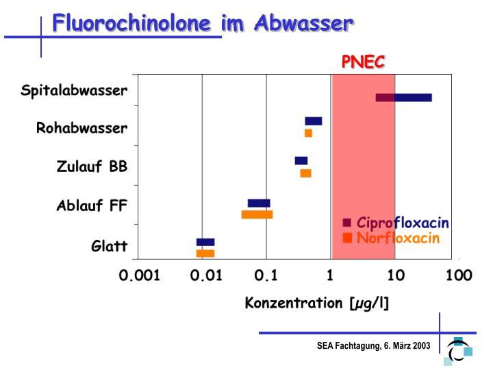 Fluorochinolone im Abwasser