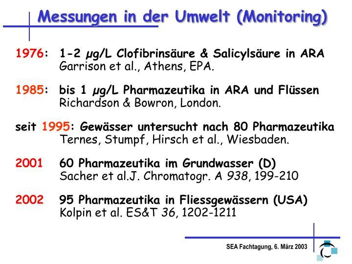Messungen in der Umwelt (Monitoring)