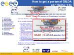 how to get a personal gilda certificate 1 5