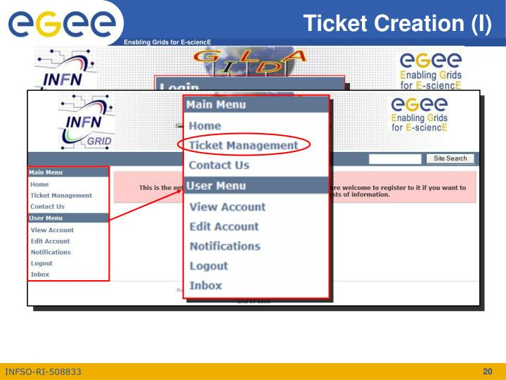 Ticket Creation (I)