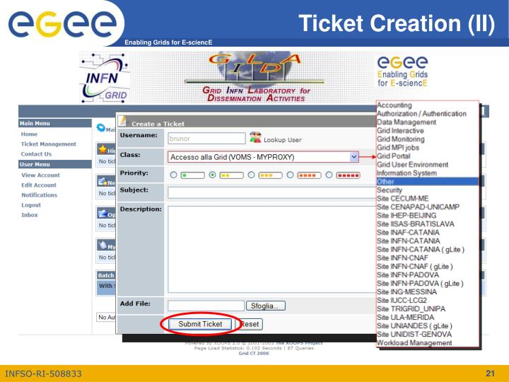 Ticket Creation (II)