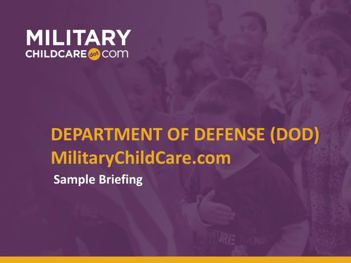 Department of defense dod militarychildcare com