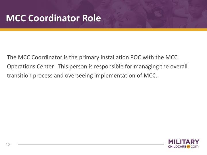 MCC Coordinator