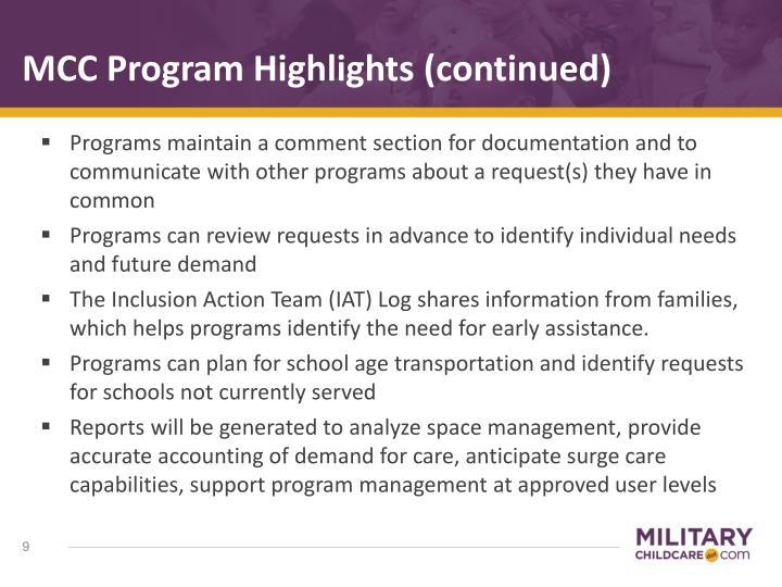 MCC Program