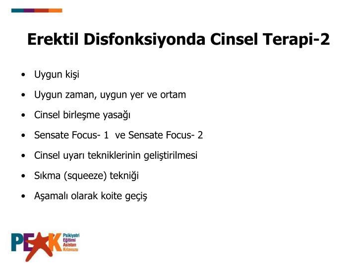 Erektil Disfonksiyonda Cinsel Terapi-2