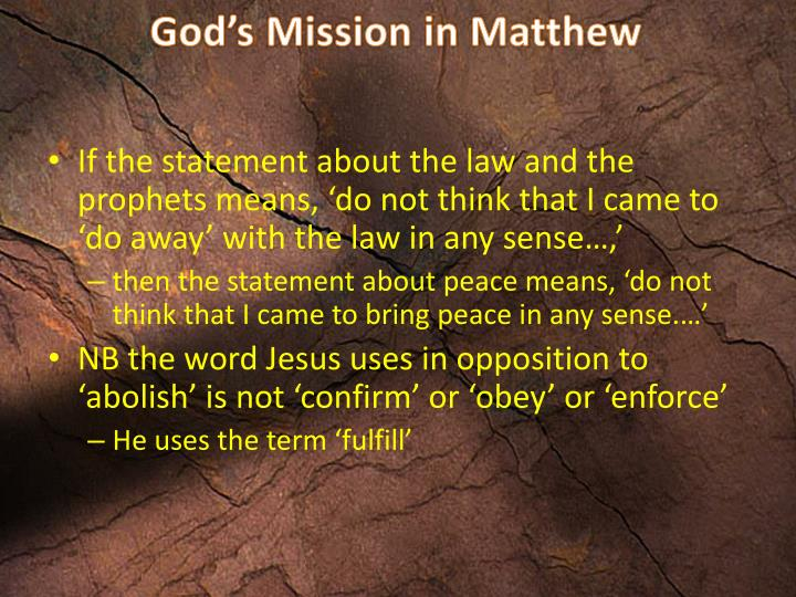 God's Mission in Matthew