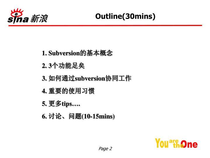 Outline(30mins)