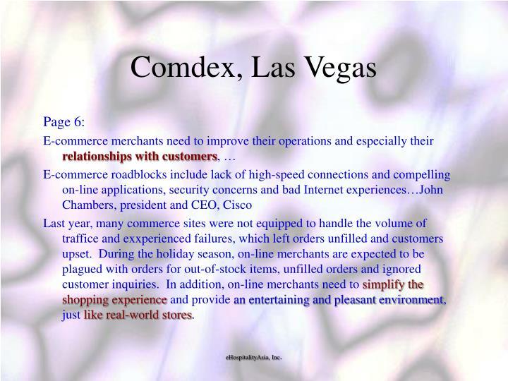 Comdex, Las Vegas