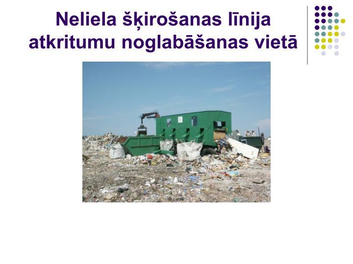 Neliela šķirošanas līnija atkritumu noglabāšanas vietā