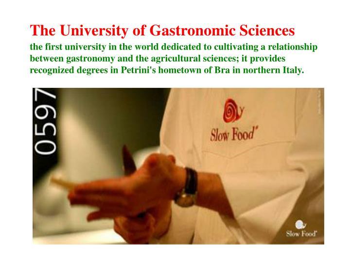 The University of Gastronomic Sciences