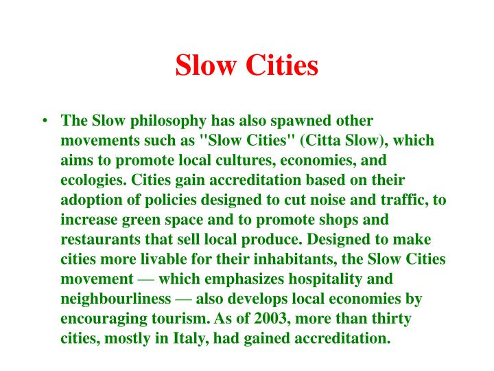 Slow Cities