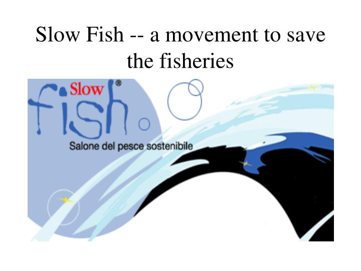 Slow Fish -- a movement to save the fisheries