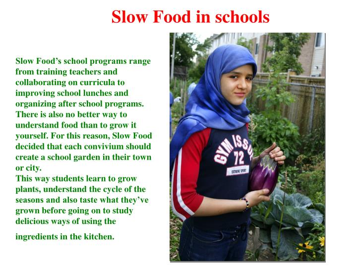 Slow Food in schools