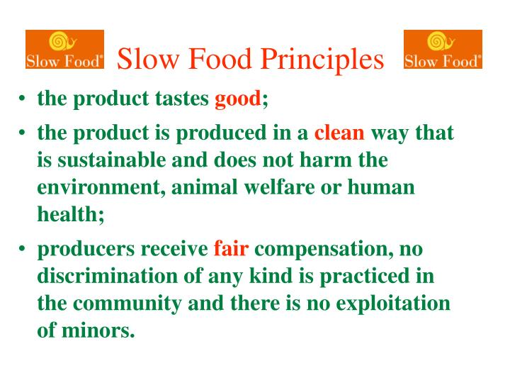 Slow Food Principles