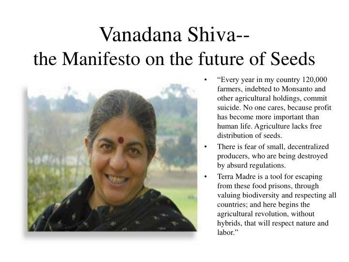 Vanadana Shiva--