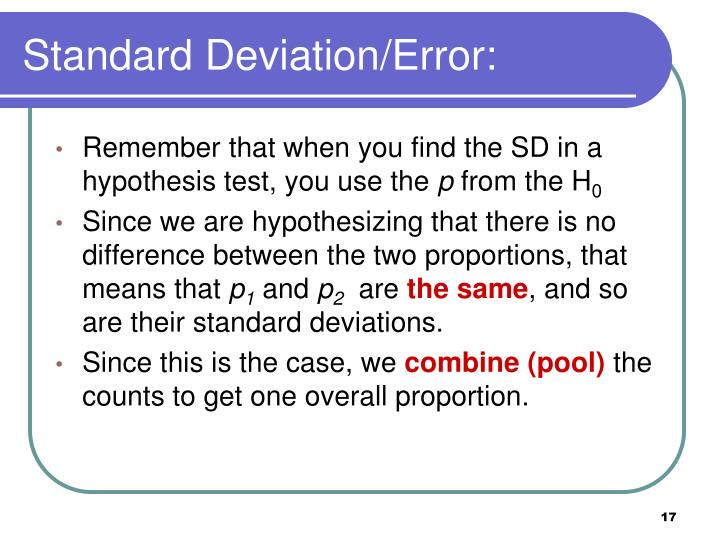 Standard Deviation/Error: