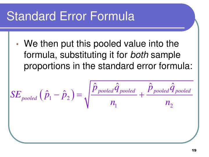 Standard Error Formula