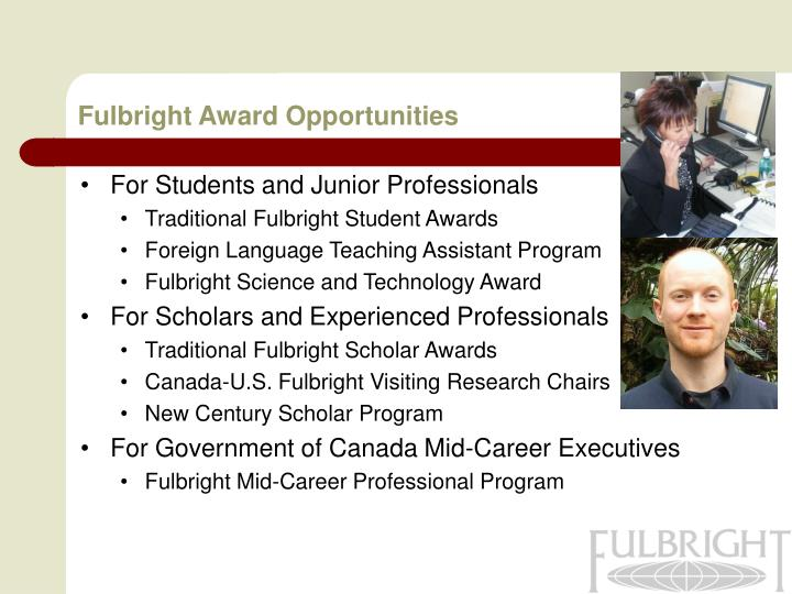 Fulbright Award Opportunities