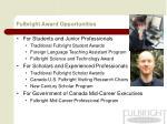 fulbright award opportunities