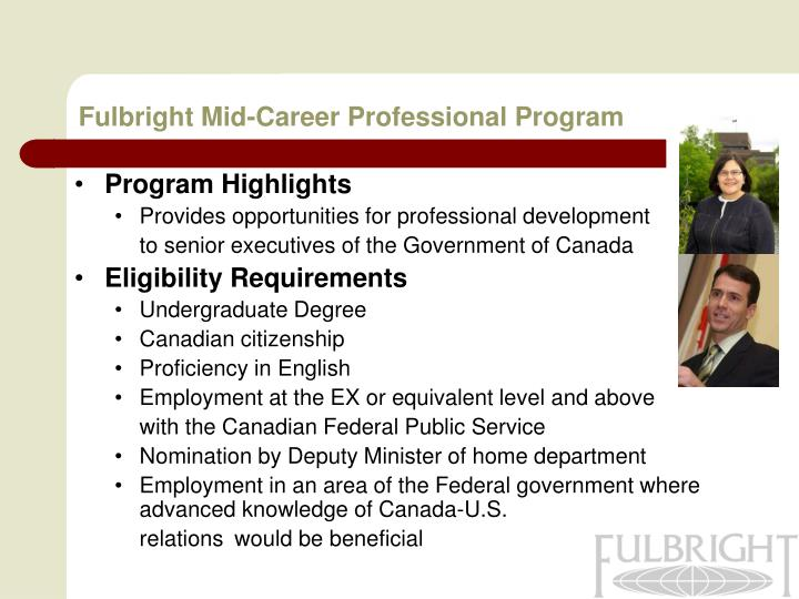 Fulbright Mid-Career Professional Program