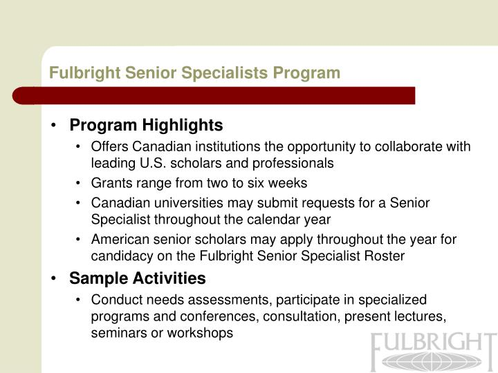 Fulbright Senior Specialists Program