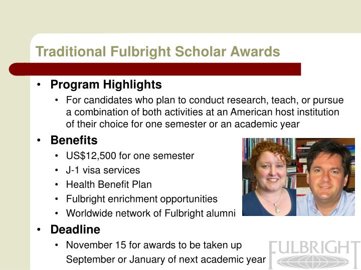 Traditional Fulbright Scholar Awards