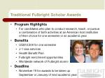 traditional fulbright scholar awards