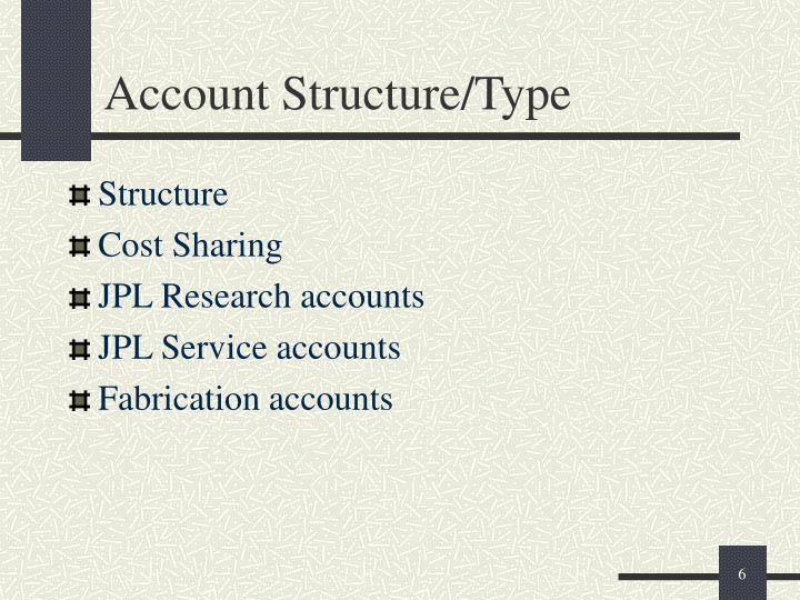 Account Structure/Type