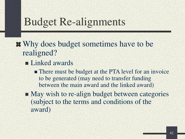 Budget Re-alignments