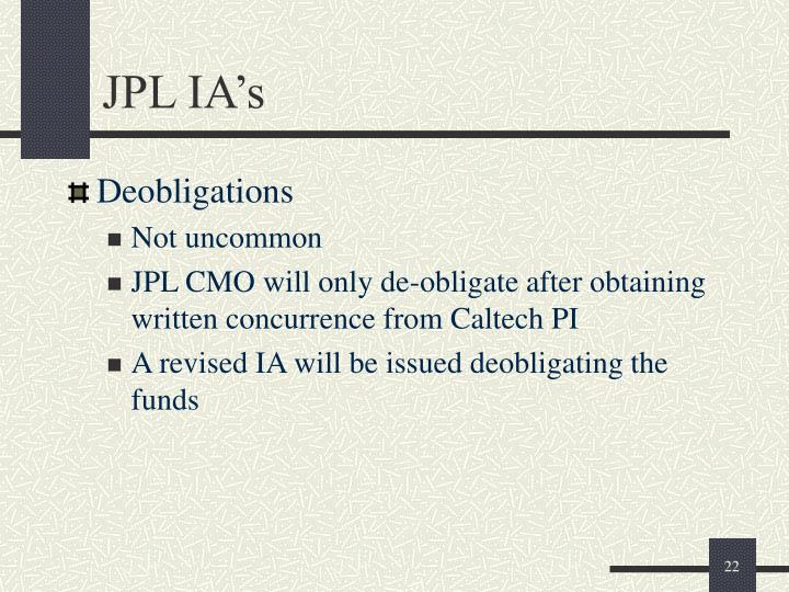 JPL IA's