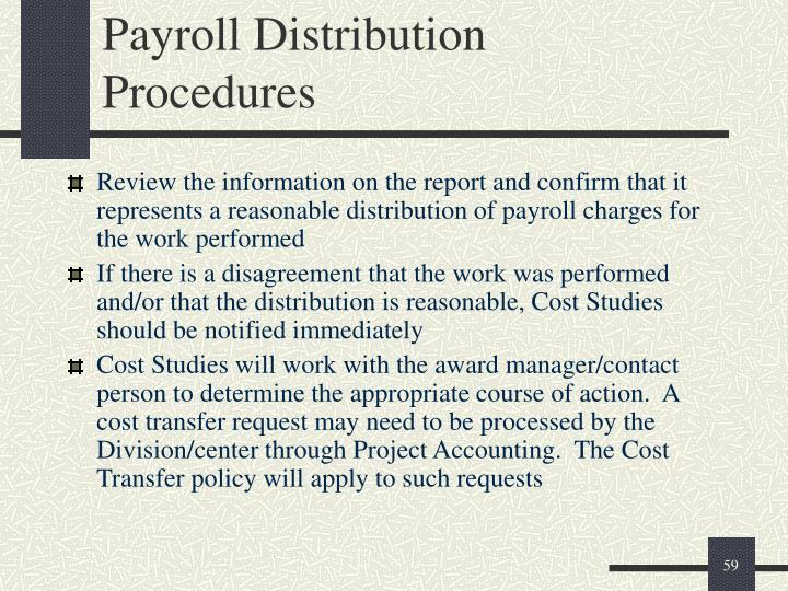 Payroll Distribution