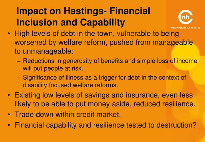 Impact on Hastings- Financial Inclusion and Capability