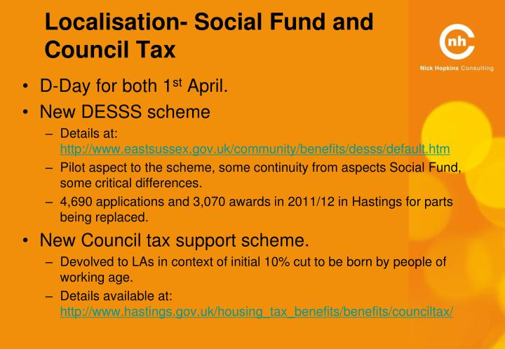 Localisation- Social Fund and Council Tax