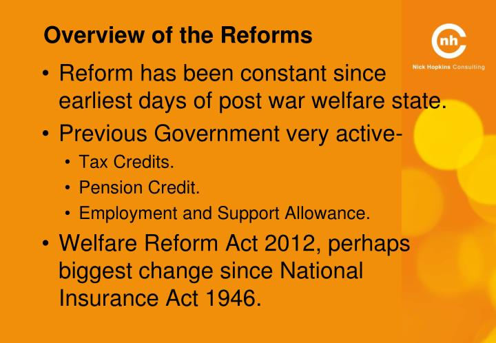 Overview of the Reforms