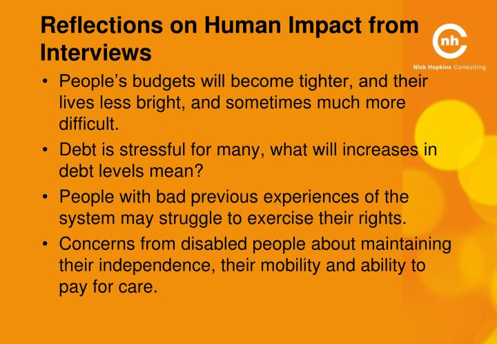 Reflections on Human Impact from Interviews