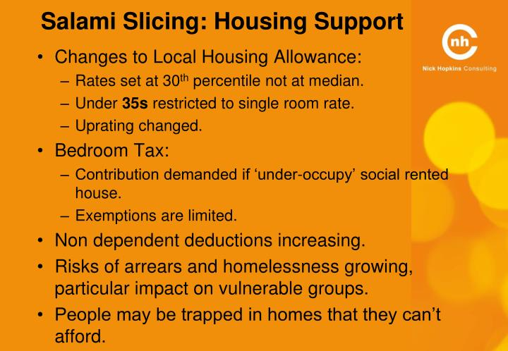 Salami Slicing: Housing Support