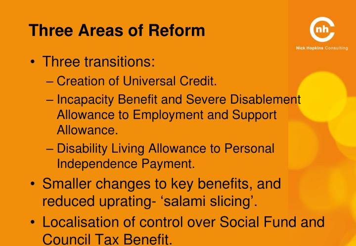 Three Areas of Reform