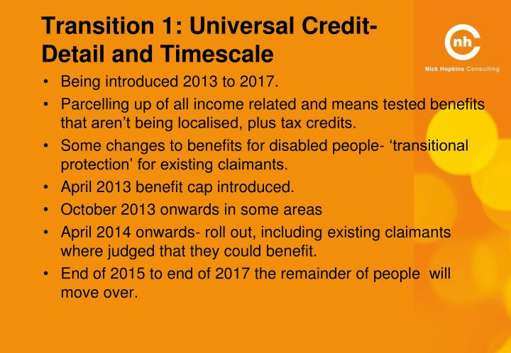 Transition 1: Universal Credit-