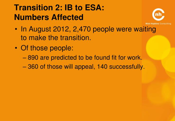 Transition 2: IB to ESA: